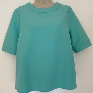 ASOS Petite Light Green Drape Short Sleeve Blouse